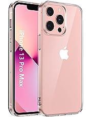 Riisoyu Hoesjes compatibel met iPhone 13 Pro Max 6,7 inch, transparante cases, slank, krasbestendig, siliconen TPU bumper case, flexibel, krasbestendig, doorzichtige beschermhoes voor iPhone 13 Pro Max