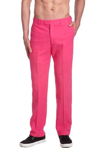 Flat Front Linen Trousers - 7