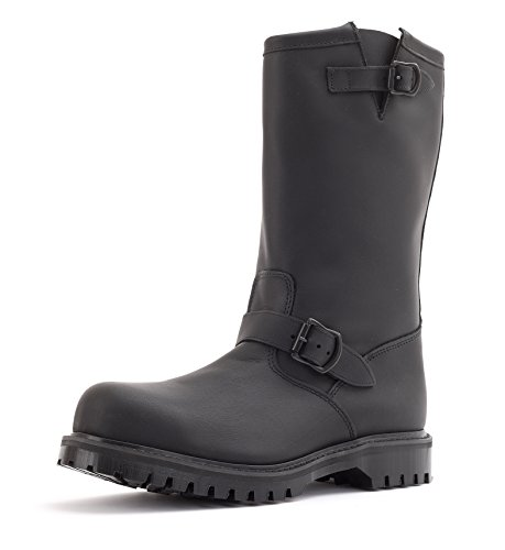 Gripfast Engineer Boot Fully Leather Lined with Steel Toe UK 12 / US 13 Black ()