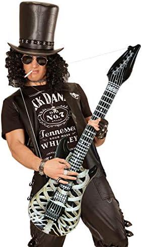 Amakando Guitarra Universal Inflable rockero con Huesos / Negro ...