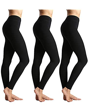 da894ff1a3bdb Womens High Waisted Leggings for Women-Tummy Control and Elastic Opaque Slim  Pants-One