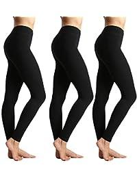 31538ec0af2 Womens High Waisted Leggings-Super Soft Slim Pants-One Plus Size 20+