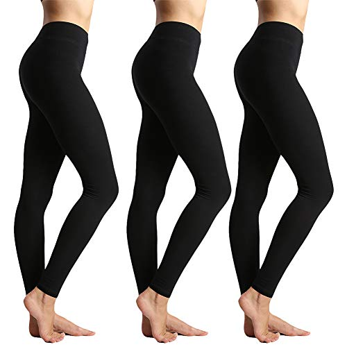 Womens High Waisted Leggings for Women-Tummy Control and Elastic Opaque Slim Pants-One/Plus Size 20+ Design -