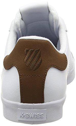 K Bison Homme White Blanc swiss Belmont Baskets 868 Basses r0qr1Uw