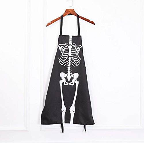 Cyy Halloween Party (CY&Y Halloween Bar Dance Party Horror Dress Up Apron Halloween Costume Skeleton Costume Apron)