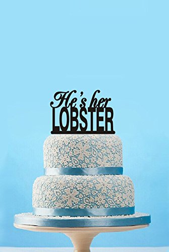 Amazon Hes Her Lobster Cake Topper Funny Wedding Cake Topper