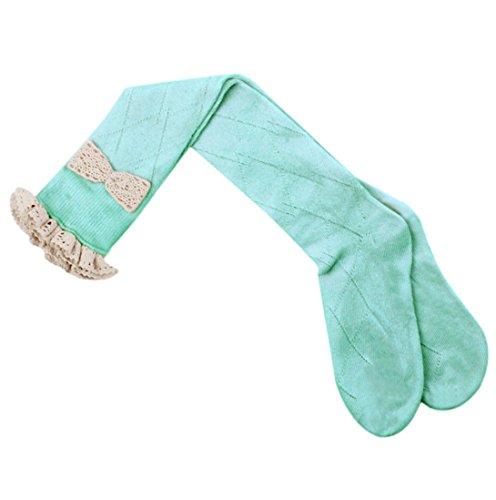 HP95(TM) Womens Knee High Leg Warmer, Crochet Knit Boot Socks Toppers Cuffs Blue
