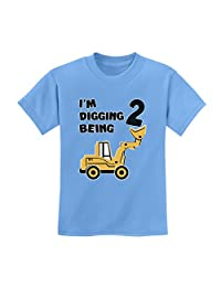 TeeStars - 2nd Birthday - Bulldozer Construction Party Toddler Kids T-Shirt