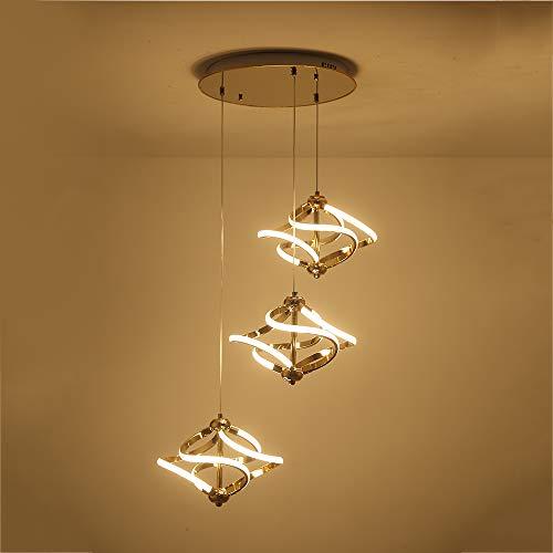 - Living Room LED Pendant Light,Chandelier Ceiling Office Hanging Lights Aluminium Indoor Light Fixture,Cord Adjustable,WarmWhite,65W