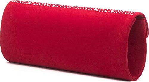 VINCENT PEREZ - Cartera de mano de Terciopelo para mujer Rojo - rojo