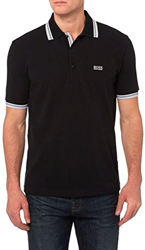 HUGO+BOSS+Green+Men%27s+Paddy+Polo+Shirts+%282X-Large%2C+Black%29
