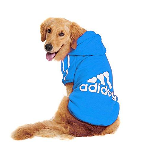 Large Dog Hoodies,Rdc Pet Apparel, Fleece Adidog Basic Hoodie Sweater, Cotton Jacket Sweat shirt Coat from 3XL to 9XL (9XL, (Basic Dog Hoodie Sweatshirt)
