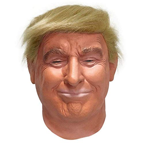 Yunbai Mascara de latex de Halloween Trump Presidente Deluxe latex Cabeza Completa Donald Trump mascara Naranja de Pelo Mejor opcion for Cualquier Partido (Color Orange)