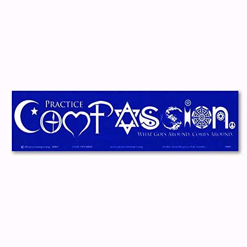 Sticker Compassion - Practice Compassion Interfaith Symbol Magnet Magnetic Bumper Sticker