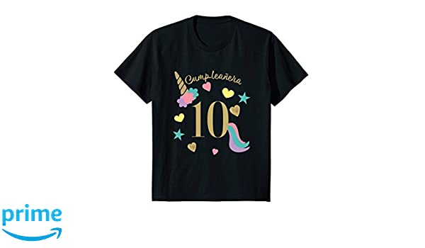 Amazon.com: Kids Camisa Cumpleanos Unicornio Ninas 10 Anos 10th Birthday Tee: Clothing