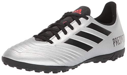 (adidas Men's Predator 19.4 Turf Soccer Shoe Silver Metallic/Black/hi-res red 10.5 M US)