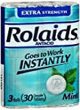 Rolaids Extra Strength Chewable Tablets Mint - 30 ct, Pack of 6