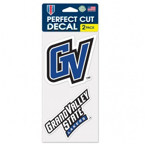 Wincraft NCAA Grand Valley State U Perfect Cut Decal (Set of 2), 4'' x 4''