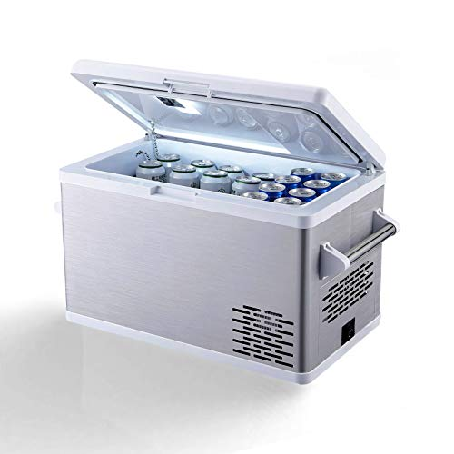 Aspenora Portable Fridge Freezer 12V Car Refrigerator Car Fridge with Compressor Touch Screen for Vehicle Truck RV Camping Travel Outdoor Driving, -4℉ ~ 68℉, 12/24V DC and 110V AC(37-Quart)