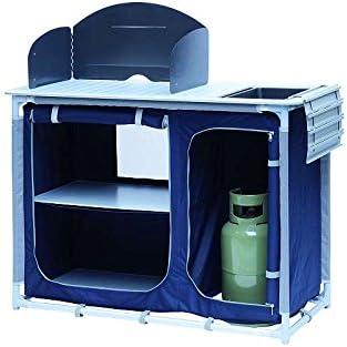 Campingkeuken Met Gootsteen Windscherm Campingkast Aluminium Frame Opvouwbaar Outdoor Keuken Camping Kast Tas Inklapbaar Wastafel Amazon Nl