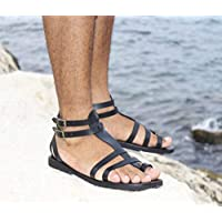 c68e6048b Unisex Leather Sandals Gladiator Greek Roman Style