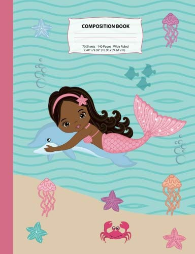 Search : Composition Book: Wide Ruled African American Mermaid Composition Notebook 5, Mermaid Notebooks and Journals, Black Girl Notebooks, Notebook, African ... (Mermaid Composition Notebooks) (Volume 5)