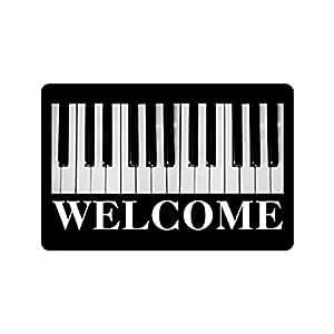 """TSlook Doormat Piano Keys entrance floor Indoor/Outdoor/Front Welcome Door Mat(23.6""""x15.7"""",L x W)"""