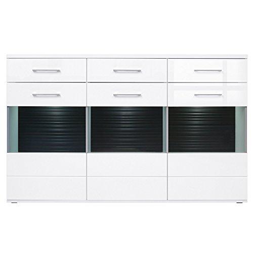 ContempStyle S117-KOM3W3S.14.18-BI.Bip Avila 3-Door 3-Drawer LED Sideboard Cabinet Oak Set Sideboard