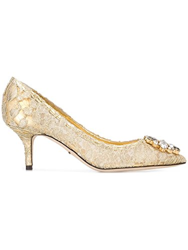 Dolce e Gabbana Women's Cd0066ae63780997 Gold polyamide - Gold Gabbana Shoes Dolce