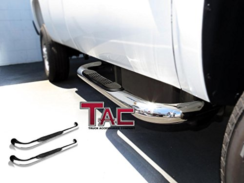 "TAC 2010-2017 DODGE RAM 1500 (Excl. 2015-1/2 Model)/ 2010-2017 2500-3500/4500/5500 REGULAR CAB 3"" ALL Stainless Steel Side Bar Step Nerf Bars Running Boards"