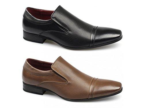 Giovanni TORYN Mens Faux Leather Slip On Shoes Black Black RjGiMhkJuX