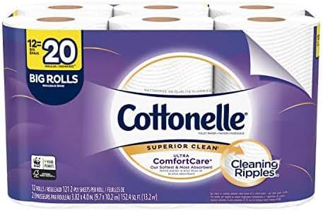 Cottonelle Ultra ComfortCare Toilet Paper, Soft Bath Tissue, 12 Big Rolls