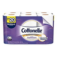 Cottonelle ComfortCare two ply toilet tissue is uniquely designed with a Wavy CleanRipple Texture that removes more & is three times thicker, stronger, and more absorbent per sheet vs. the Leading National Value Brand. Cottonelle Toilet P...