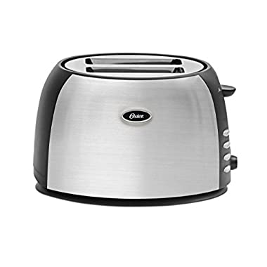 Oster TSSTJC5BBK 2-Slice Toaster, Brushed Stainless Steel