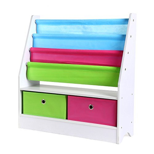 HOMFA Toy Storage Organizer Rack Kids Book Organizer Non-woven Fabric Storage Bin Bookcase Storage for Toddlers