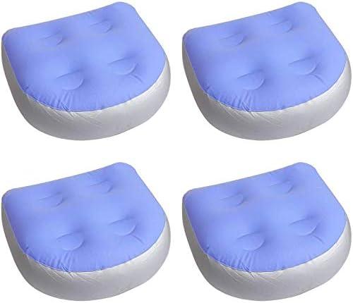 Asientos para bañera de hidromasaje con 4 ventosas para Lay Z SPA, Inflable, Asiento Multifuncional, para bañera de hidromasaje cojín Antideslizante para Adultos Ancianos niños en casa SPA y Descanso