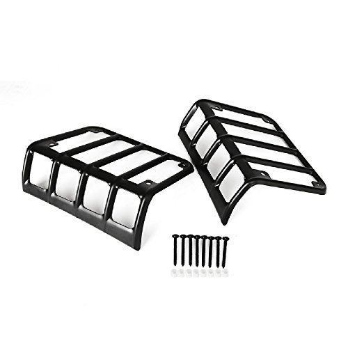 tail light guard amazon Tail Light Wire Colors auxmart tail light guard cover black for 07 16 jeep wrangler jk pack of 2