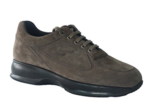 46D3 Visone Scarpa Donna Sneaker Pelle Scamosciata