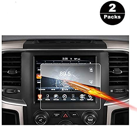 5-Inch 2013-2018 Dodge Ram 1500 2500 3500 Uconnect Touch Screen Car Display Navigation Screen Protector RUIYA HD Clear Tempered Glass Car in-Dash Screen Protective Film