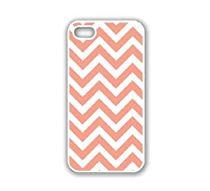 iPhone 5 Case White ThinShell Case Protective iPhone 5 Case Chevron Coral