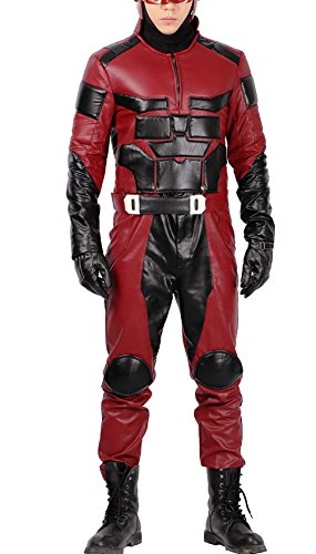 Daredevil Costume Deluxe Top Pants Outfit Adult Halloween Superhero Cosplay Suit L