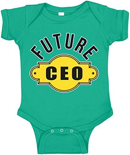 Amdesco Future CEO Infant Bodysuit, Kelly Green 6 Month (Best Looking Kd 6)