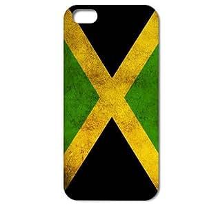 Bondwarehouse Retro Jamaica cubierta de la bandera nacional Carcasa Trasera Protectora para iPhone 5 5S