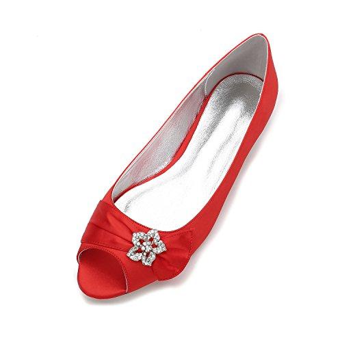 annuale incontro Party Bottomed del presso Calzature sfera scarpe con luce banchetto matrimonio Qingchunhuangtang basse la rosso pesce scarpe Donna grande naso Il Flat La UHZE7Awqa
