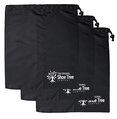 Cheap The Original Shoe Tree Company Premium Drawstring Shoe Bag 3-Pack