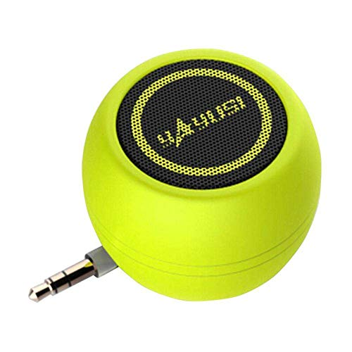Mini Mobile Phone Speaker, YiMiky Mini Portable Speaker 3.5mm AUX Portable Speaker Amplifier Sound System 3D Stereo Speaker Plug and Play for Mobile Phone Tablet PC MP3 MP4 - Green