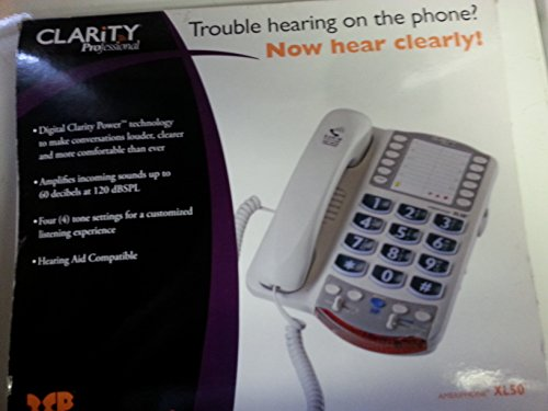 Ameriphone Dialogue XL-50 - Amplified Telephone (48+ dB) Hearing or Visually Impaired (Ameriphone Xl 50 Amplified Telephone)