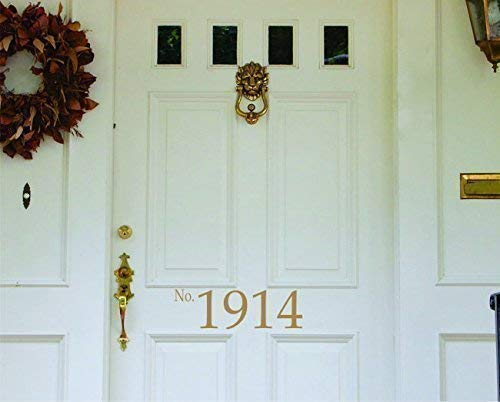 Front Door Decal - House Number Vinyl Lettering- Wall Art- Home Vinyl Wall Decals - SF ()