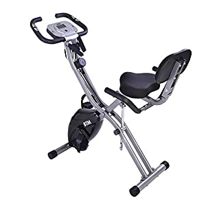 410kPvWe1mL. SS300 Autoshoppingcenter Cyclette da Casa Pieghevole Bici Fitness F-Bike Home Trainer Magnetico Verticale Orizzontale 10 Resistenza Altezza Regolabile Bianco [EU Stock]