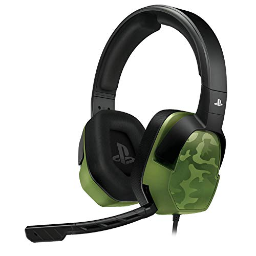 PDP Gaming LVL3 Headset With Noise Cancelling Microphone: Green Camo – PS5/PS4